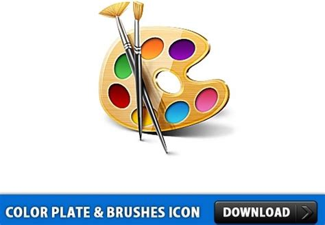 color plate color plate and brushes icon psd free psd in photoshop psd