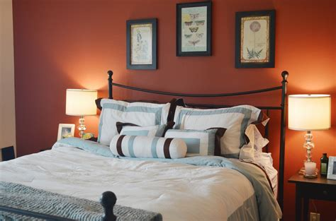 bedrooms with orange walls orange accents wall painted of modern bedroom design idea