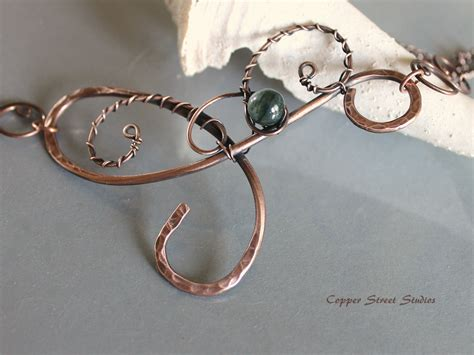 copper jewelry wire necklace copper wire wrapped necklace