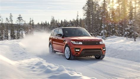 range rover sport chile red   snow front hd