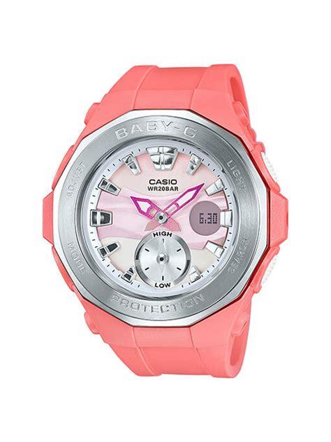 Casio Baby G Bga 150f 7a White Pink Ori baby g bga 220 beachside gling series g central g shock