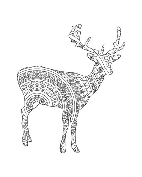 deer coloring page for adults 1000 images about doodles and drawings on pinterest gel