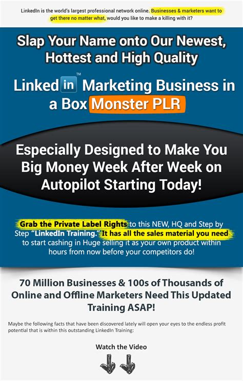 Plr Exclusive Marketing linkedin business in a box 700 value plr exclusive