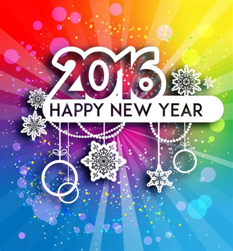 new year 2016 paper cutting template 2016 new year with cut paper decor vector 01