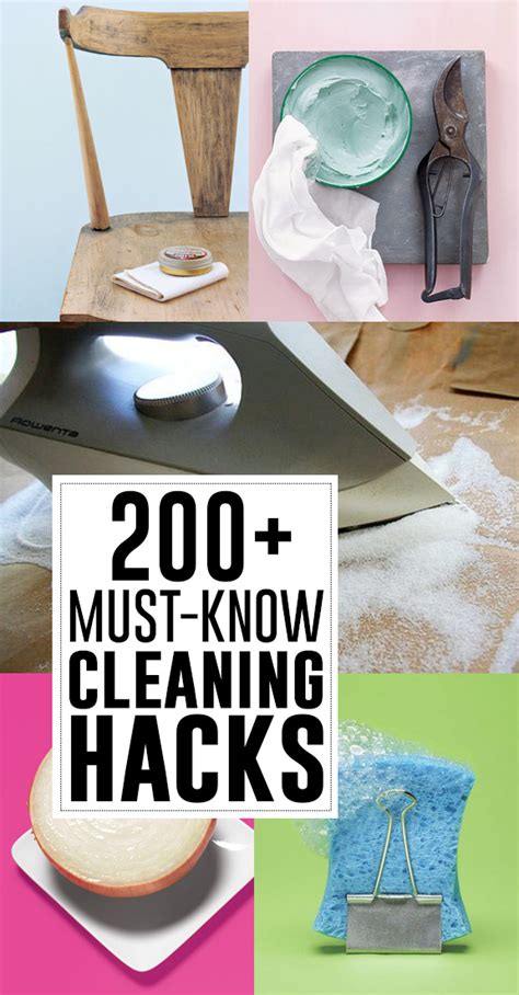 200 must know cleaning hacks and tips andrea s notebook