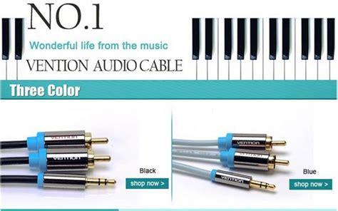 Vention Kabel Aux 35mm To 2 Rca 1 Meter P560 g 252 nstig kaufen vention 2m stecker auf 2rca audiokabel 3