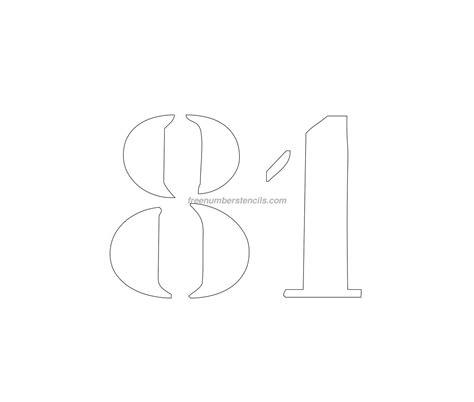 printable curb number stencils free curb painting 81 number stencil freenumberstencils com