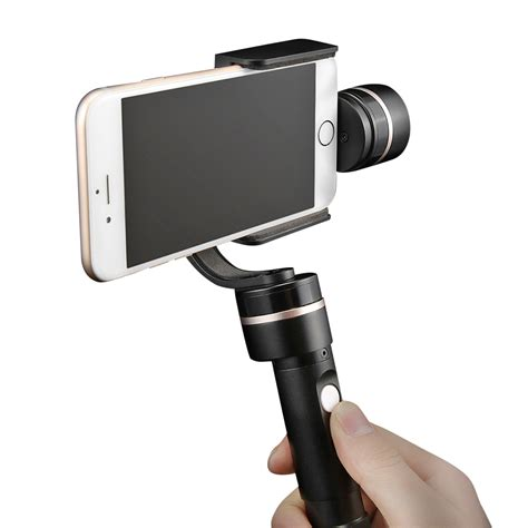 iphone gimbal fy g4 3 axis handheld steady gimbal ptz cell phone mount for iphone