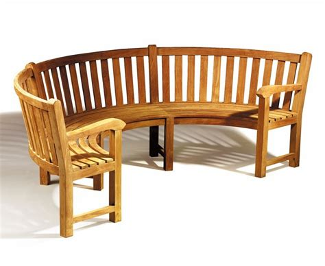 curved wooden bench henley teak curved wooden bench with arms
