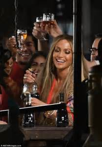 jlo energy drink is seen on the set of new