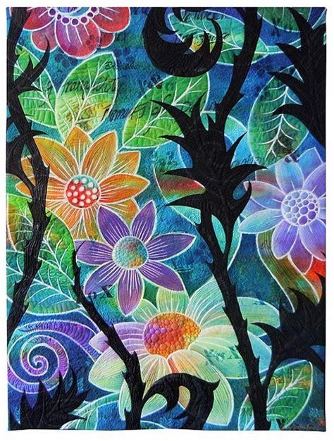 flower doodle quilt kit 454 best zentangled flowers trees gardens images on
