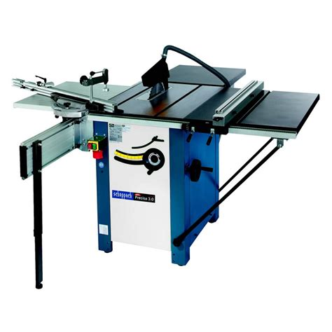 table bench saw scheppach precisa 3 saw bench w sliding table rear take