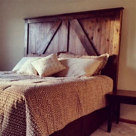 Remodelaholic 50 Diy Handmade Headboards Link Party Diy Barn Door Headboard
