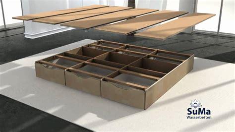 Sockel Wasserbett by Suma Wasserbett Mit Schubladen Sockel Montieren