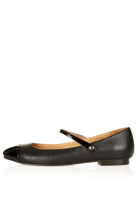 topshop mayleen dolly shoes in black lyst
