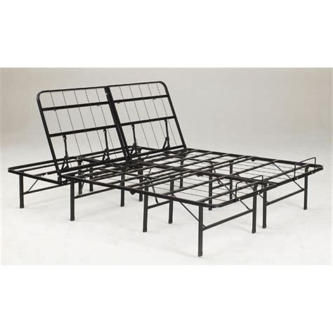 portable bed frame tranquil sleep 174 portable adjustable bed frame foundation