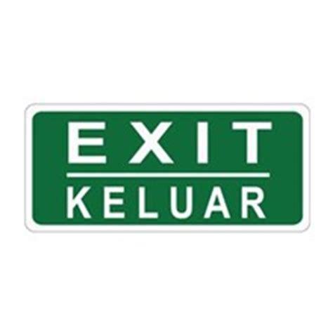 Petunjuk Arah Jalur Evakuasi Gantung Bahan Akrylik 1 sell safety sign evacuation route kanan glow in the