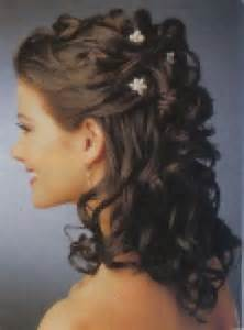 of the hairstyles partial updo hairstyle with flowers