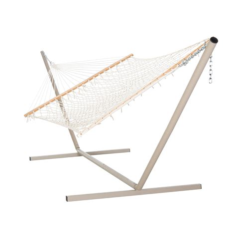 Rope Hammock With Stand Castaway Large Cotton Rope Hammock With Stand Dfohome