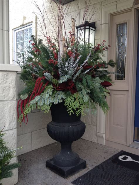 images of christmas urns 35 best winter containers images on pinterest winter