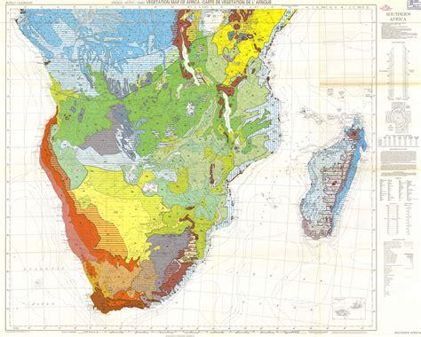 africa map vegetation vegetation map of africa southern africa carte de