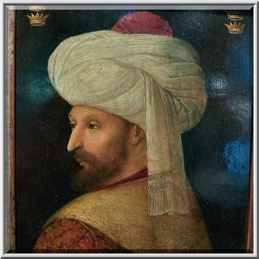 Mehmet Ottoman Portrait Of Sultan Mehmed Ii El Fatih The Conqueror By Gentile Bellini Italy Early 16th