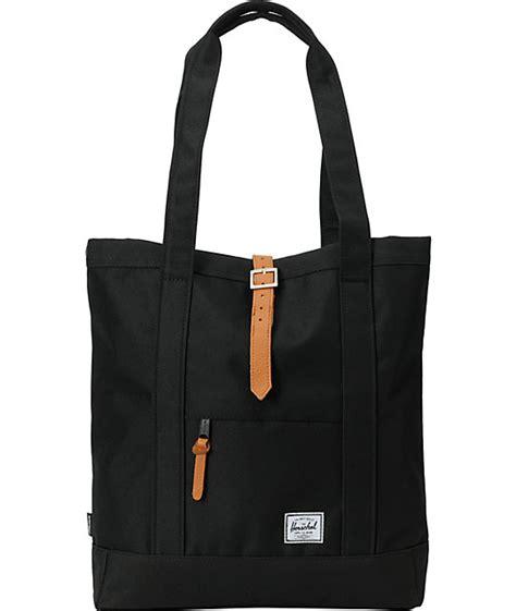 herschel supply market black 11l tote bag at zumiez pdp