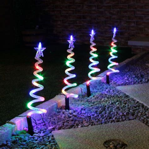 spiral tree lights set of 4 led spiral tree pathfinders gift ideas