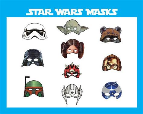 printable jedi mask 9 best images of star wars party printables star wars