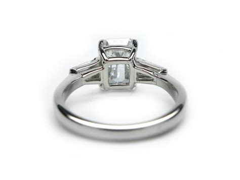 handmade platinum 2 08ct emerald ring with tapered