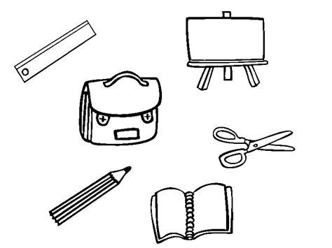 imagenes para pintar utiles escolares dibujos para colorear de materiales escolares