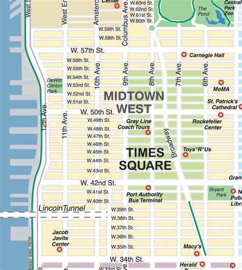 times square map new york map times square