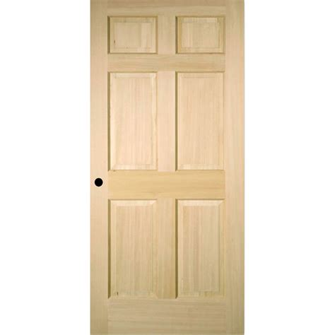 Pre Hung Interior Doors Shop Reliabilt 6 Panel Solid No Skin Fir Right Interior Single Prehung Door Common