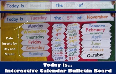 calendar template for bulletin board nyla s crafty teaching may 2013