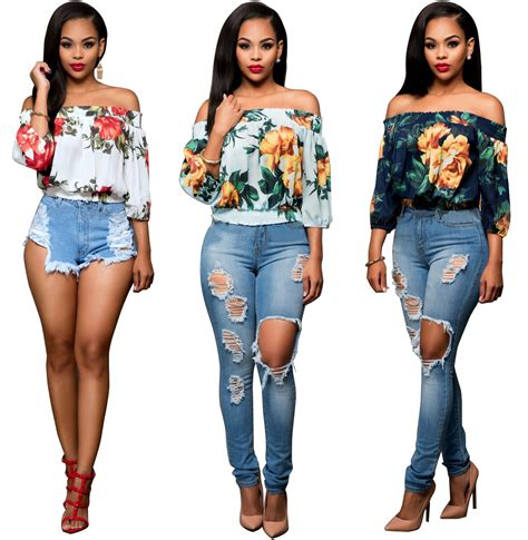 2017 floral print crop tops top fashion