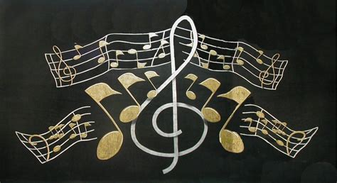 Wallpaper Gold Music | free gold music notes phone wallpaper by brandiwig84
