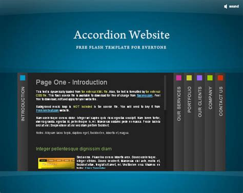 Collection Of Free Flash Website Templates With Fla Source Files Free Flash Site Templates