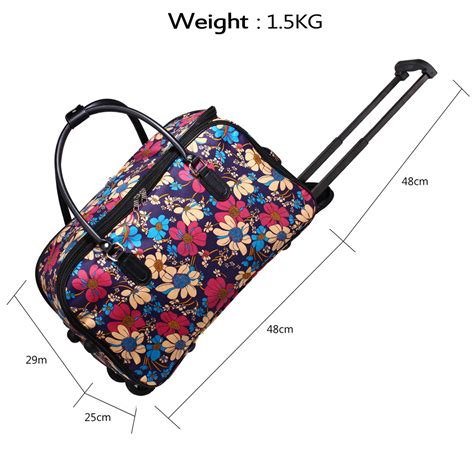 Floral Prints For Travel by Agt0012 Flower Print Travel Holdall Trolley Luggage With