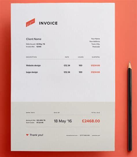 invoice design vector free clean flat invoice vector template titanui