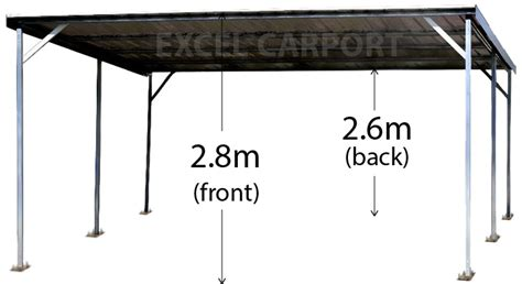 Metal Carport Sizes Carport 6m X 6m Vehicle Shelter Skillion Steel
