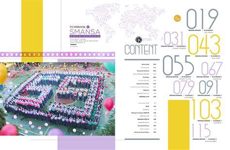 contoh layout yearbook buku tahunan sekolah yearbook