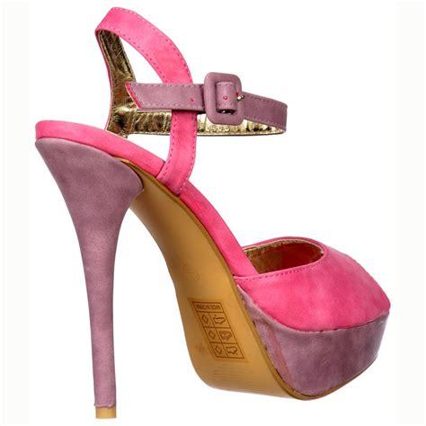 two tone high heels shoekandi suede peep toe high heels two tone strappy