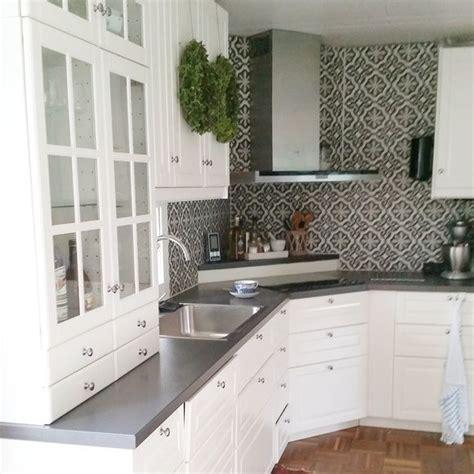 ikea kitchen backsplash ikea bodbyn google search love the white cabinets with