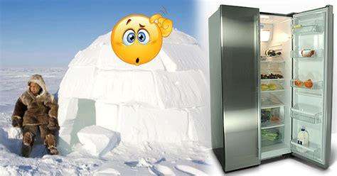 Kulkas Jualan pria ini ketika mau menjual kulkas di kutub utara