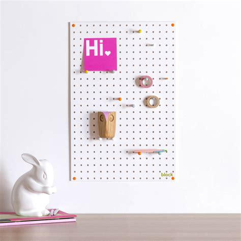 white pegboard with wooden pegs small by block design white pegboard with wooden pegs medium by block design