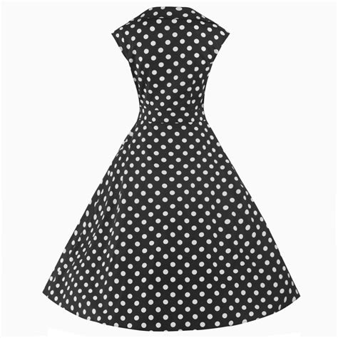Swing Bow by Black And White 50s Polka Dot Swing Bow Dress Pretty