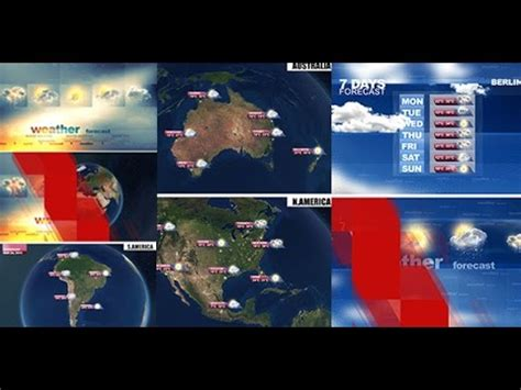 Automatic Weather Forecast After Effects Template Youtube After Effects Weather Template