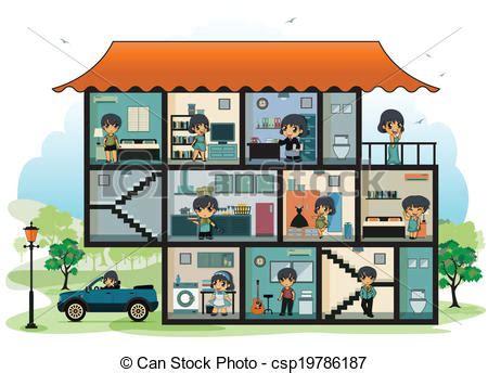 casa stanze vettore di casa vario stanze casa differente bambini