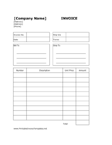 Printable Free Invoice Templates The Grid System Billing Invoice Template Free