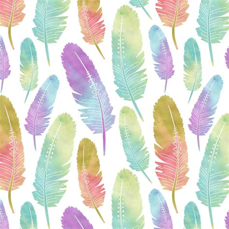 pattern for watercolor boho feather pattern watercolor rainbow by redbubble